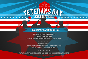 Veterans Day Celebration Landscape Poster