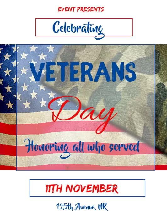 Veterans day Folheto (US Letter) template