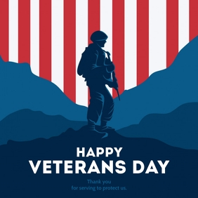 Veterans Day Publicación de Instagram template