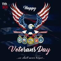 Veterans Day Сообщение Instagram template