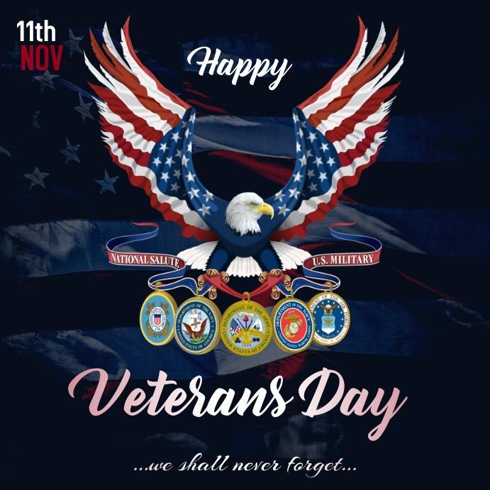 Veterans Day Instagram Post template