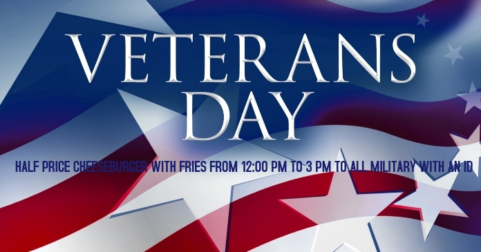 Veterans Day Facebook Gedeelde Prent template