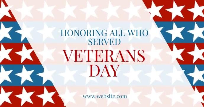 Veterans Day delt Facebook-billede template