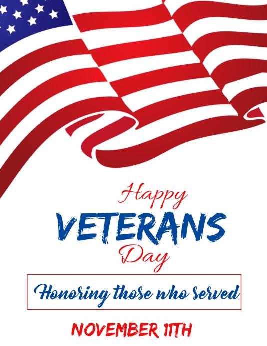 Veterans day Flyer (US Letter) template