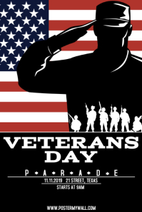 Veterans day Affiche template