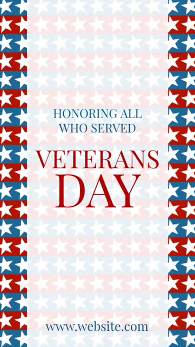 Veterans Day Instagram Story template