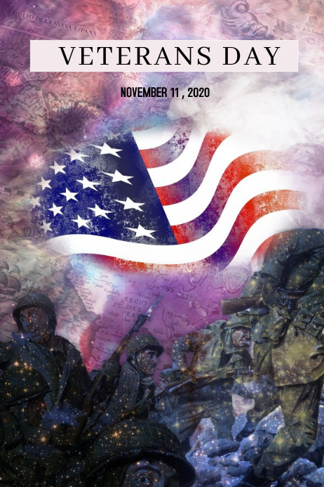 VETERANS DAY Poster template