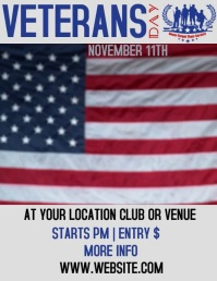 VETERANS DAY EVENT FLYER AD DIGITAL VIDEO