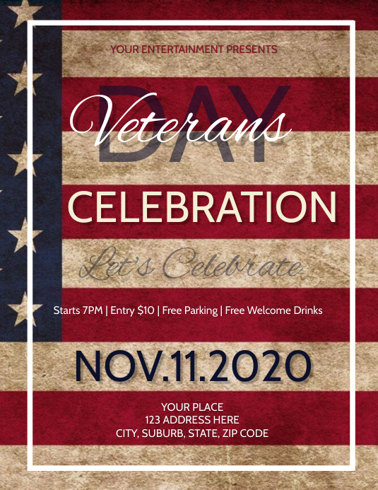 Veterans Day Event Flyer
