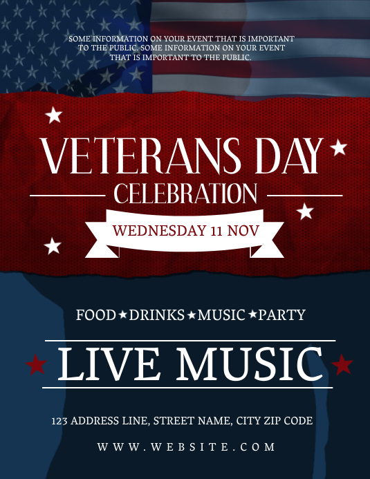 Veterans Day Event Flyer Template Folder (US Letter)