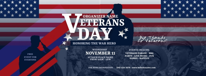Veterans Day Facebook Cover Photo template