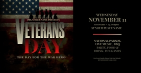 Veterans Day Facebook Shared Image template