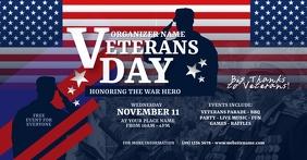 Veterans Day Facebook Shared Image delt Facebook-billede template