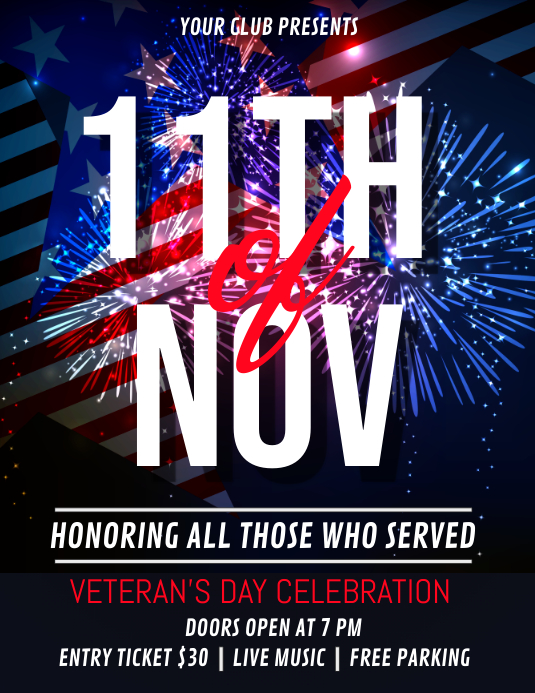 veterans day flyer, happy veterans day