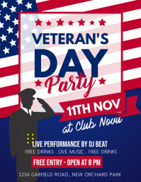 veterans day flyer, happy veterans day