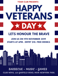 veterans day flyer, happy veterans day Pamflet (VSA Brief) template