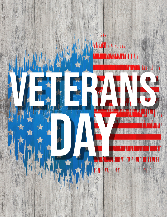 veterans day flyer, veterans day video Volante (Carta US) template