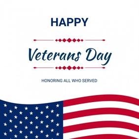 Veterans day flyer Post Instagram template