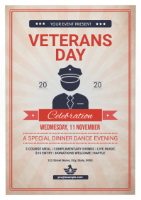 Veterans Day Flyer A4 template