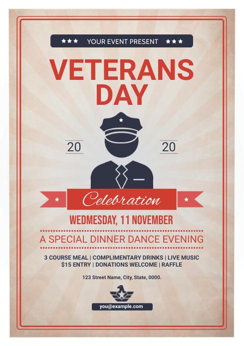 Veterans Day Flyer A4 template