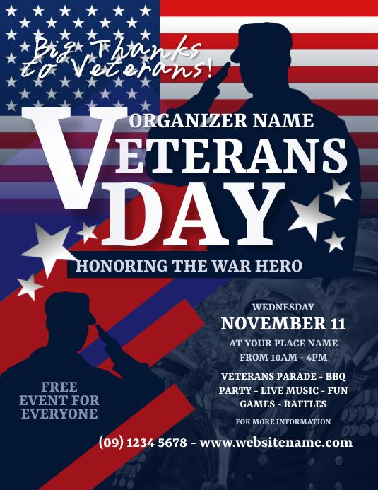 Veterans Day Flyer 传单(美国信函) template