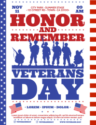 VETERANS DAY FLYER Pamflet (VSA Brief) template