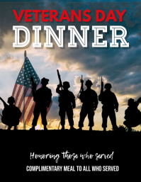 Veterans Day Free Dinner Flyer