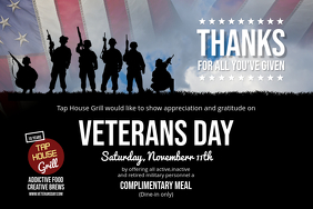 Veterans Day Landscape Poster template