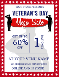 Veterans Day Mega Sale Flyer Template