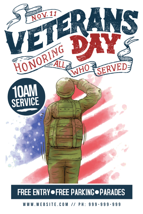 Veterans Day Poster Póster template