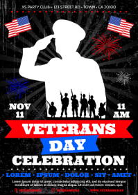 VETERANS DAY POSTER A4 template