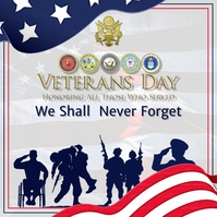 Veterans Day Poster Flyer Message Instagram template