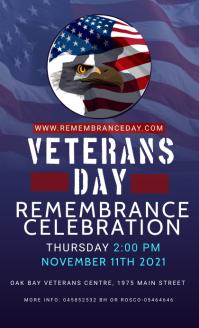 Veterans day Remembrance celebration US Legal template