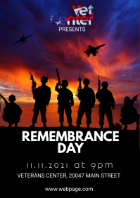 Veterans Day Remembrance day A4 template