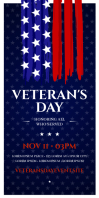 VETERANS DAY ROLL-UP BANNER template