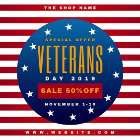 Veterans Day Sale Banner Video Ad Сообщение Instagram template
