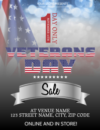 Veterans Day Sale event Flyer Template