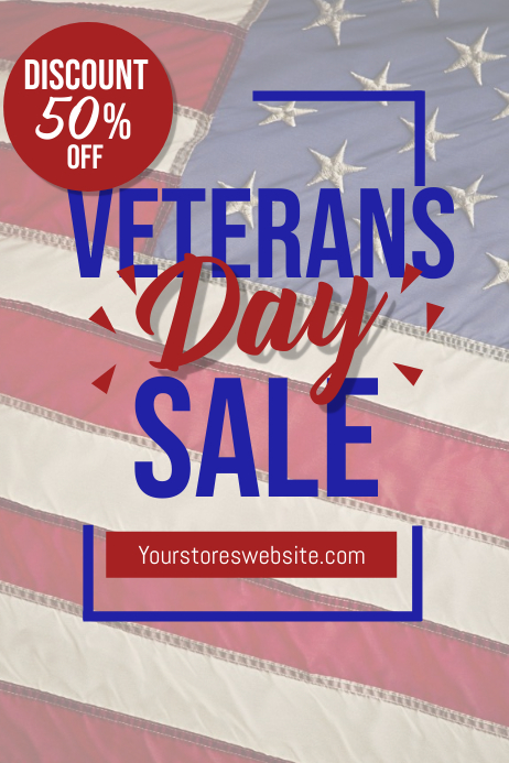 Veterans Day Sale Event Flyer Template Poster