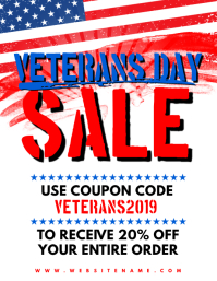Veterans Day Sale Flyer