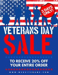 Veterans Day Sale Flyer template