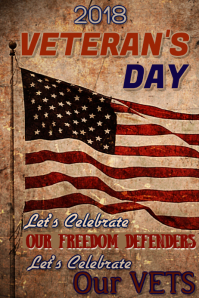 Veterans Day Sale Poster Template