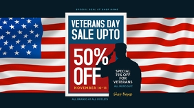 Veterans Day Sale Twitter Post Twitter-Beitrag template
