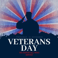 Veterans Day Social Media Post Template Instagram 帖子