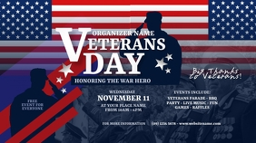 Veterans Day Twitter Post Twitter-Beitrag template
