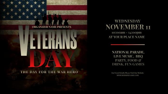 Veterans Day Twitter Post template