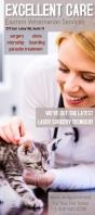 veterinary animal pet service vet rack cards template