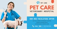 Veterinary Hospital Advert Facebook Shared Image template