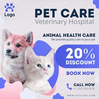 Veterinary Hospital Online Ad Modern Instagram Post template