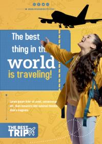 viajes travel A4 template