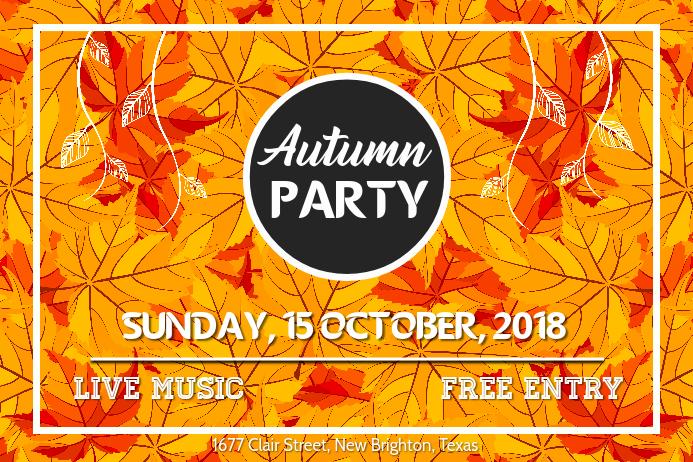 Vibrant Autumn Event Landscape Poster Template Affiche